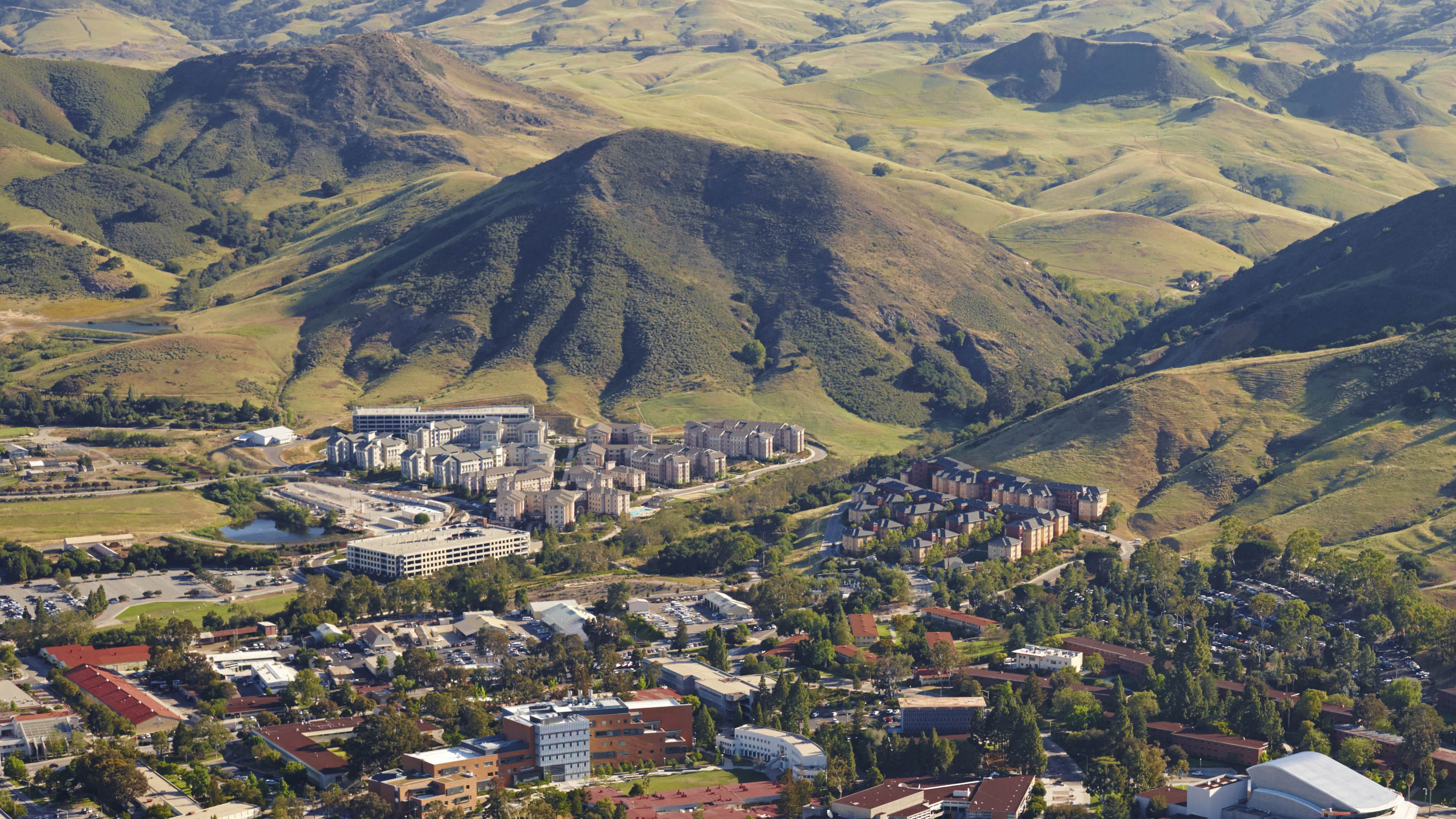 Cal Poly campus image taken from top